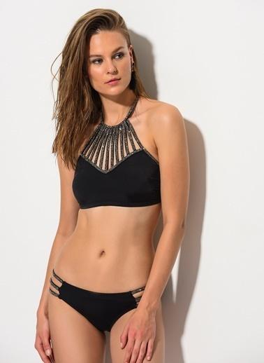 Dagi Boyundan Bağlı Bikini Takım Siyah